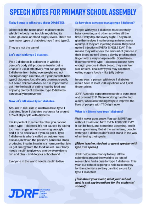 School Assembly Speech Notes