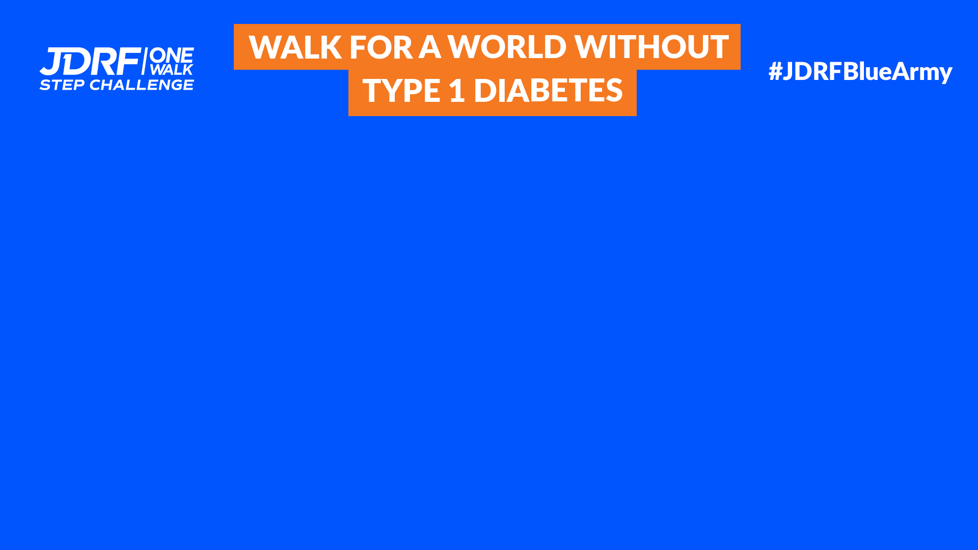 World Without T1D Zoom Background