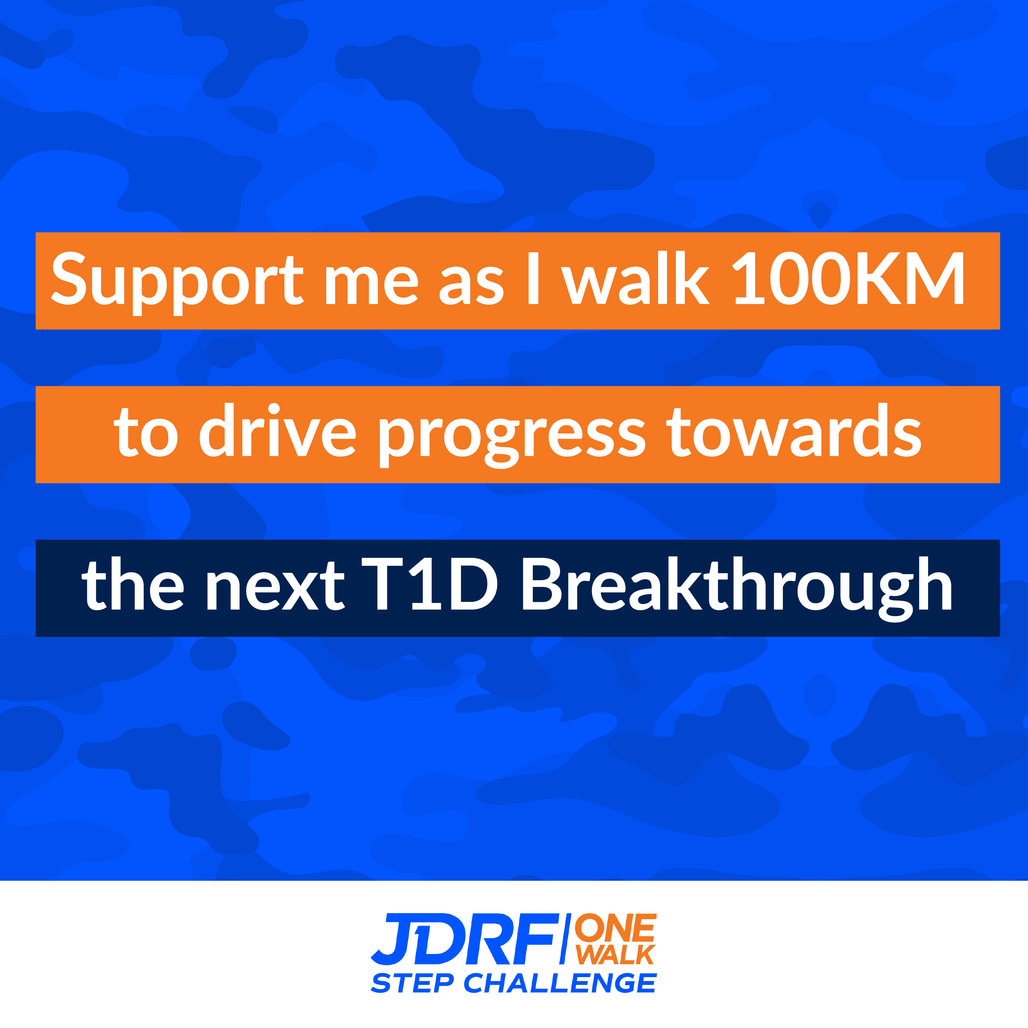 Support me as I walk 100 KMs