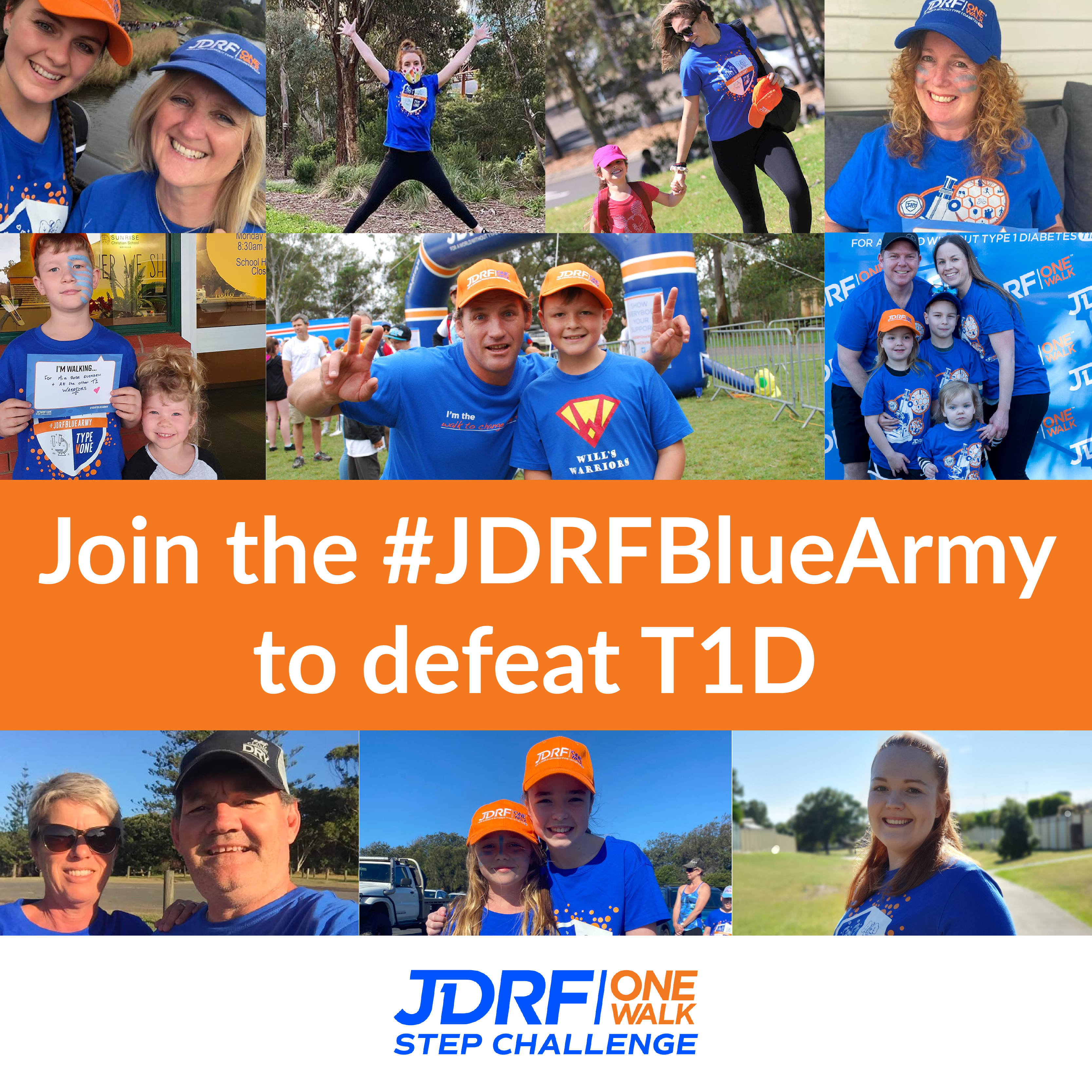 Join the JDRF Blue Army